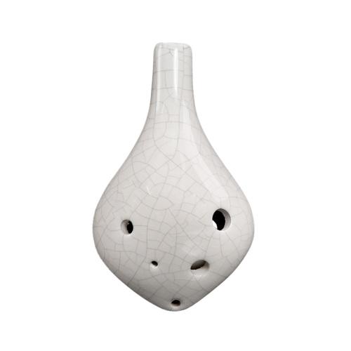 6 agujeros de cerámica Ocarina Alto C Estilo de botella de vino Instrumento musical pintado a mano con puntaje de cuerda para música Amante y aprendiz de música