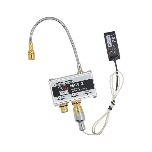 Microfone de Guitarra Acústica + Patch Sistema de Captação Dupla Transdutor Ativo de Captura para Guitarras Clássicas Folclóricas