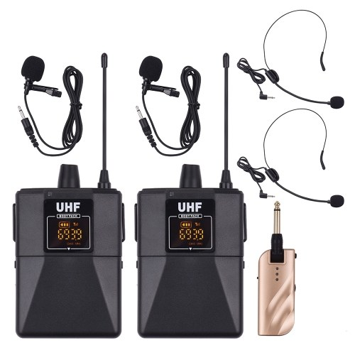 UHF Dual-Frequency Wireless Microphones Set