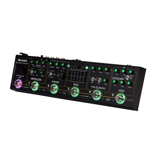MOOER BLACK TRUCK 6-в-1 Комбинированная педаль эффектов с гитарными эффектами Компрессор + Перегрузка + Искажение + Эквалайзер + Модуляция + Задержка / Реверберация Встроенный темп Tap-Tempo с футляром для переноски