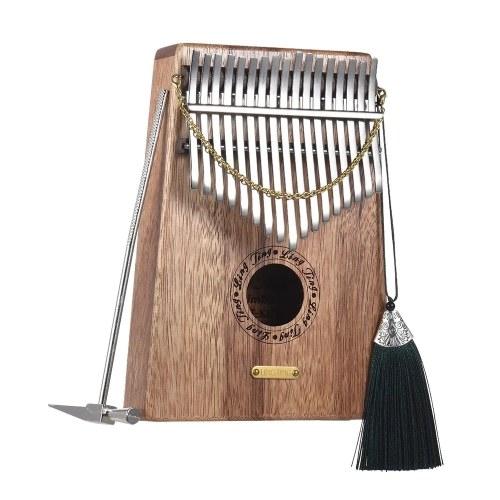 LINGTING K17S 17-key Portable Thumb Piano Kalimba Mbira Swartizia Spp Solid Wood Material