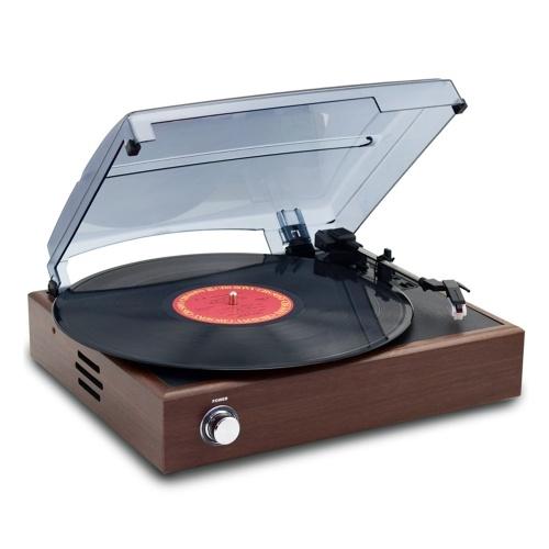 レトロなレコードプレーヤー33/45 / 78RPM蓄音機ターンテーブルディスク家庭用ポータブル蓄音機ホーム装飾ツール