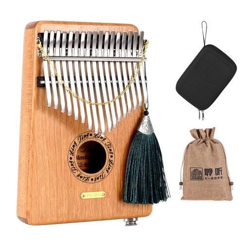LINGTING K17GEQ 17-key Portable Thumb Piano Kalimba Mbira G Tonality Sandalwood