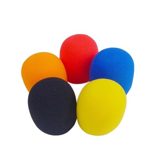 5 pcs / lot accessoires de micro universels couverture en mousse Microphone de poche pare-brise éponge casquette boule forme Microphone pare-brise pour KTV karaoké DJ