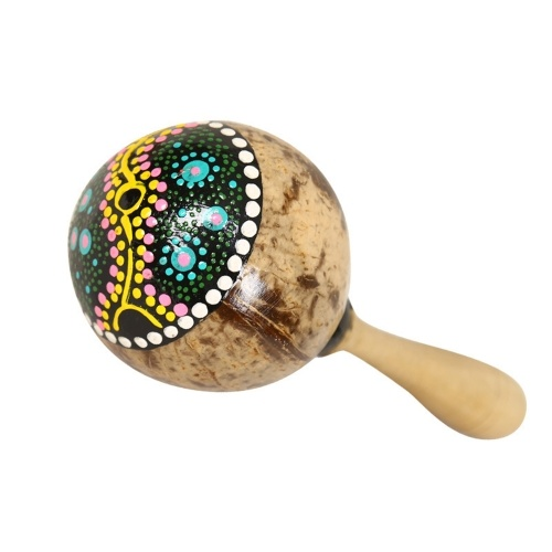 Maracas Coconut Shell Sand Hammer Shaker aus Holz