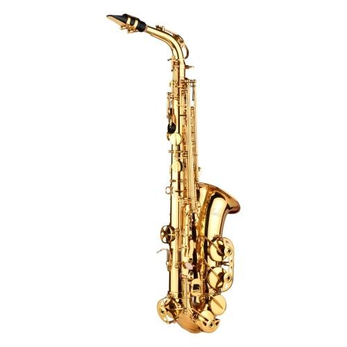 Muslady AS100 Mib Saxophone Alto Laiton Laqué Sax Alto Instrument à Vent