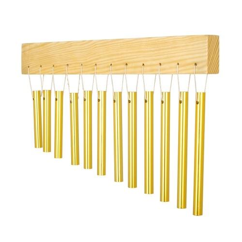 Campanello a vento a 12 bar con tubo in alluminio e strumento a percussione in legno massello