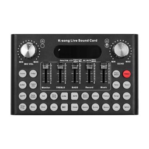 Smartphone Computer Live Soundkarte Voice Changer Gerät Audio Mixer