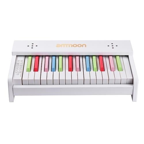 Jouet d'instrument de musique pour enfants avec piano en bois de bureau ammoon