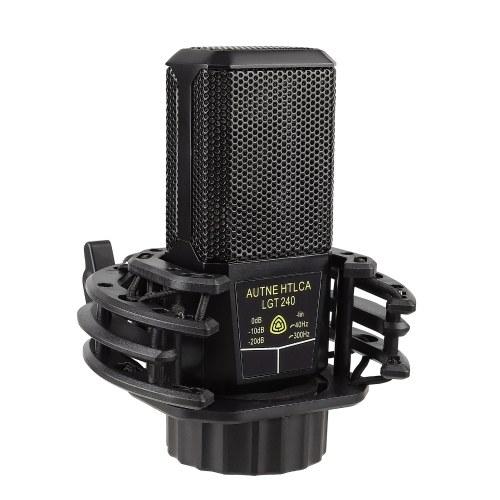 Microfone condensador cardioide de diafragma grande Muslady Mic unidirecional