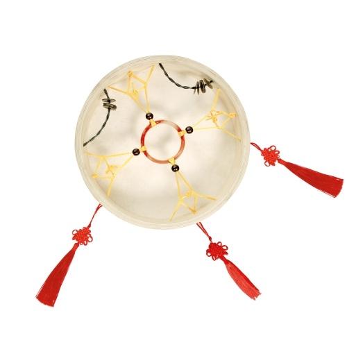Шаман Барабанная рама Барабан Ручной барабан Традиционный китайский ударный инструмент с барабанной сумкой Барабанный хлыст