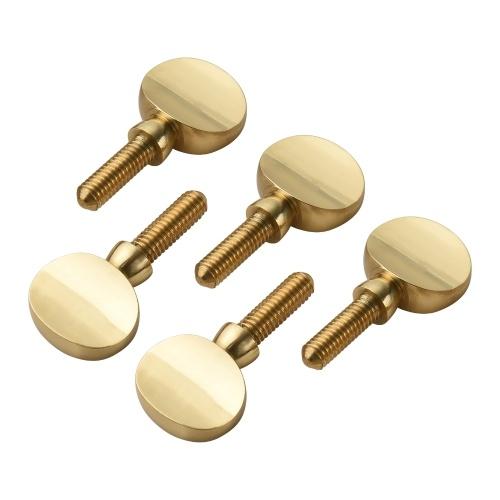 5 Stück Messing Sax Hals Anziehschrauben Saxophon Ersatzteile Kupferbefestigung Halsempfänger Anziehschraube Universal für Sopran Alto Tenorsaxophon