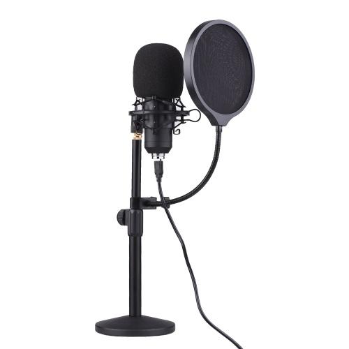 Microphone à condensateur USB de bureau professionnel ammoon