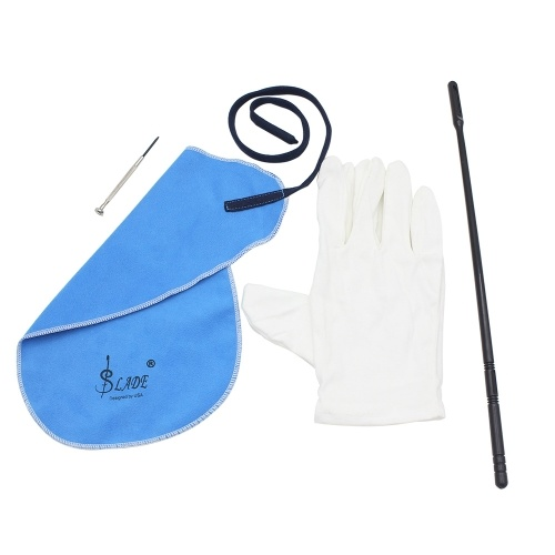 ammoon Flute Cleaning Kit Set with Cleaning Cloth Stick  Screwdriver Gloves