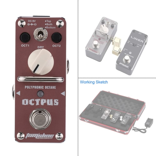 Tomtop coupon: AROMA AOS-3 Octpus Polyphonic Octave Electric Guitar Effect Pedal Mini Single Effect with True Bypass
