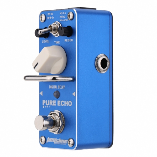 AROMA APE-3 Pure Echo Digitale Ritardo Elettrica Chitarra Effetto a Pedale Mini Singolo Effetto con Vera Circonvallazione