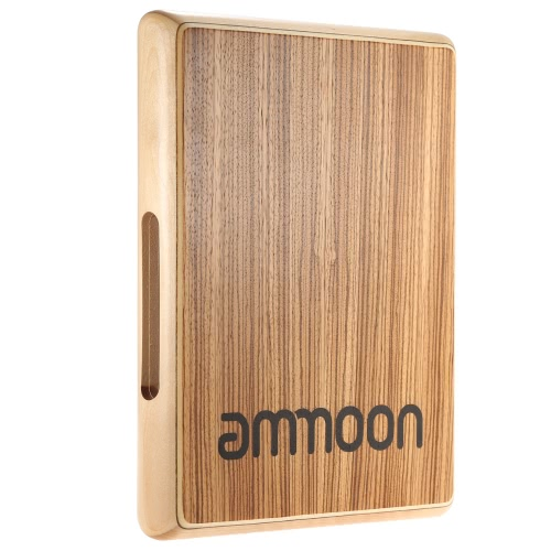 Compact Travel Cajon Flat Hand Drum Persussion Instrument  31.5 * 24.5 * 4.5cm