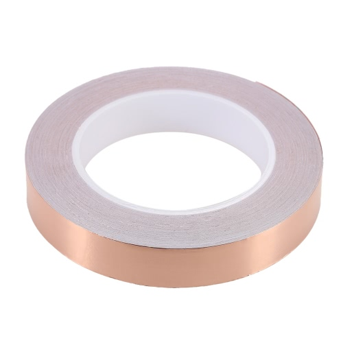 2cm * 50m Copper Foil Tape One Side Single Conductive Self Adhesive EMI Shielding Screening Slug and Snail Barrier for Electric Guitar Bass