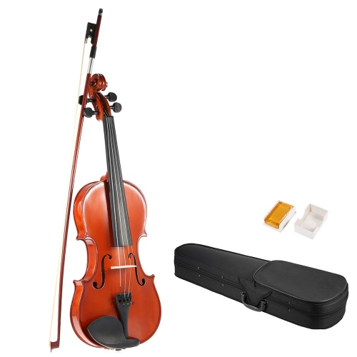 ammoon 4/4 completo tamaño sólido antiguo violín violín lustre final abeto cara tablero de madera con duro caso arco resina