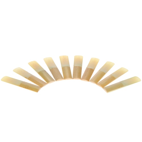 ammoon 10-pack Pieces Strength 2.5 Bamboo Reeds for Eb Alto Saxophone Sax Accessories