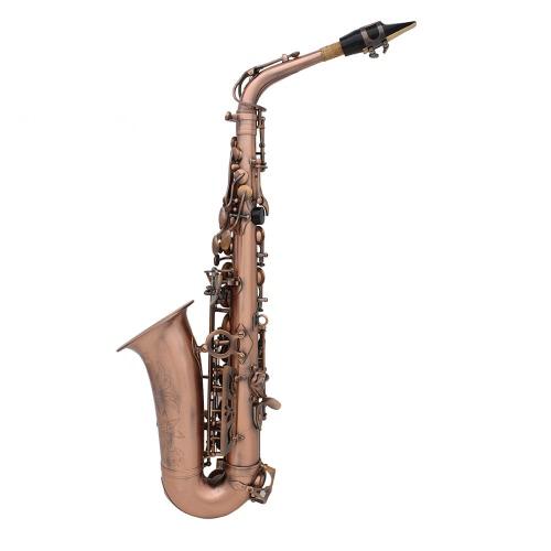 Profesional Red Bronze Bend Eb E-flat Saxofón Alto Saxofón