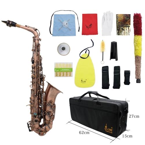 Professional Red Bronze Bend Eb E-flat Alto Saxophone Sax