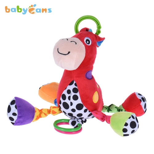babyfans FK1401 Horse-model Musical Stuffed Toy Educational Toy Built-in Music Box for Crib Infanette Hanging or for Baby Own Playing