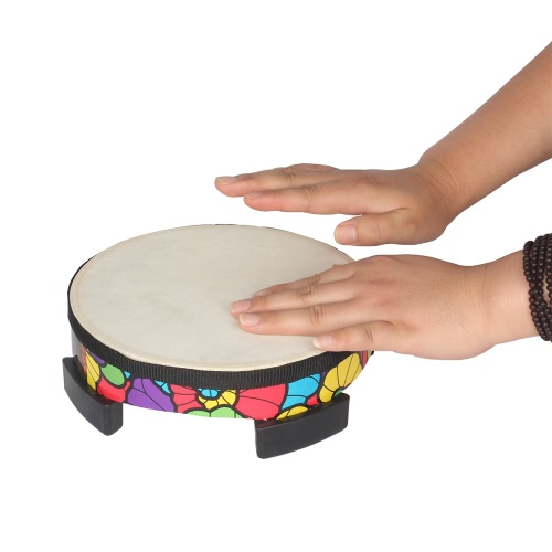 8 Inch Floor Gathering Drum Rhythm Carnival Percussion Instrument for Kids Children