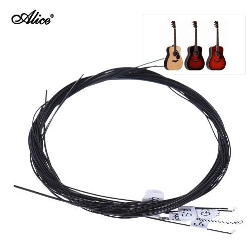 Alice AC136BK-N Black Nylon Konzertgitarren Saiten 6pcs / set (0,028-0,043) Normal Tension mit einem Kostenlose G-String 3.