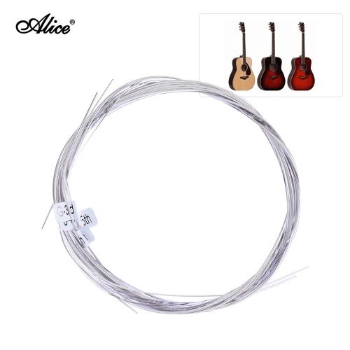 Alice AC139-N Wysokiej jakości nylonowa tana tytanowa Struny gitarowe 6 sztuk / zestaw (.028-.043) Napięcie normalne