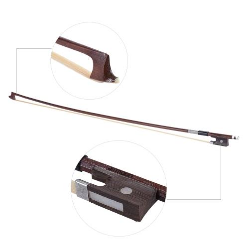 ammoon Full Size 4/4 Skrzypce Skrzypce Bow wyważone Okrągły Brazylia Drewno stick Włosie Exquisite, opakowanie 2szt