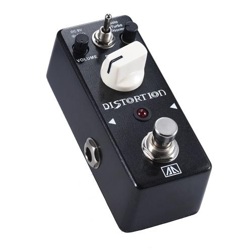 AROMA ABT-5クラシックディストーションギターエフェクトペダル暖かい滑らかなワイドレンジディストーションサウンド3モードアルミ合金ボディトゥルーバイパス