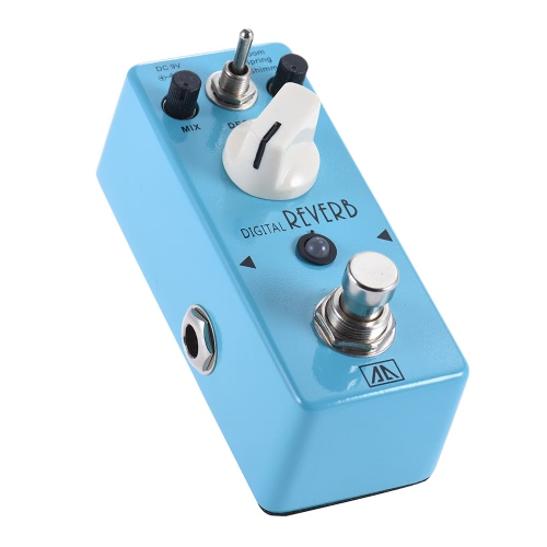 aroma aov 5 digital reverb guitar effect pedal 3 modes aluminum alloy body true bypass for sale. Black Bedroom Furniture Sets. Home Design Ideas