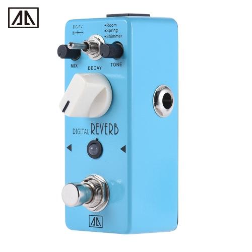 AROMA AOV-5 Digital Reverb Guitar Effect Pedal 3 Modes Aluminum Alloy Body True Bypass
