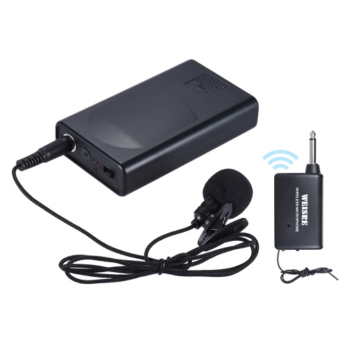 Portable Lavalier Lapel Collar Clip-on Wireless Microphone Voice Amplifier for Lecture Conference Speech Promotion, TOMTOP  - buy with discount
