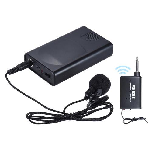 Portable Lavalier risvolto Collare clip-on microfono wireless amplificatore di voce per Lecture Conferenza Discorso Promozione