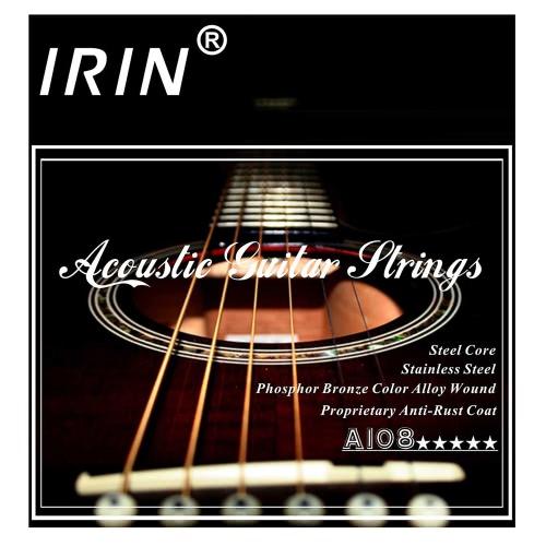 Acoustic Folk-Gitarre Saiten Ersatz des vollen Satz 6pcs (0,009-0,045) Stahlkern Phosphor Bronze Farbe Legierung Wunde mit End-Kugel Medium Tension