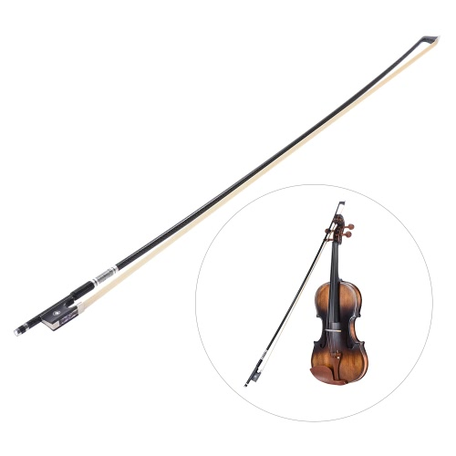 Well Balanced Braided Carbon Fiber 4/4 Violin Fiddle Bow Round Stick Exquisite Horsehair Ebony Frog