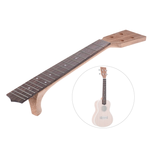 26 Inch Tenor Ukelele Maple Wood Neck & Rosewood Fretboard Fingerboard Set Hawaiian Guitar Luthier DIY Repalcement