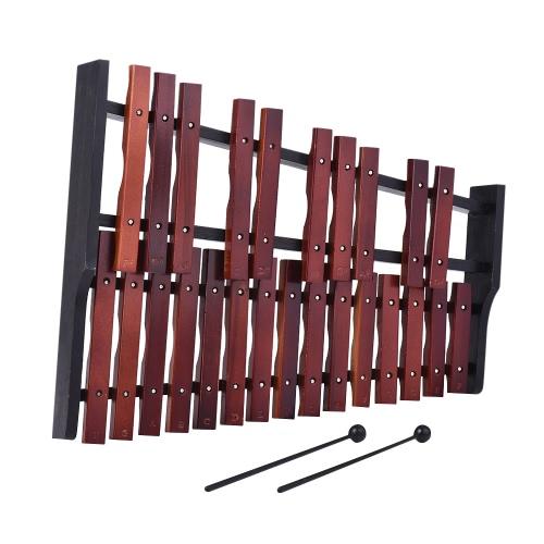 25 Примечание Деревянный ксилофон Перкуссия Воспитательный музыкальный инструмент Подарок с двумя молоточками фото
