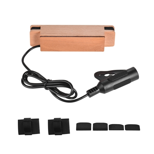 Adeline AD-33 Exquisite Solid Wood Passive Magnetic Soundhole Pickup for Acoustic Folk Classical Guitar