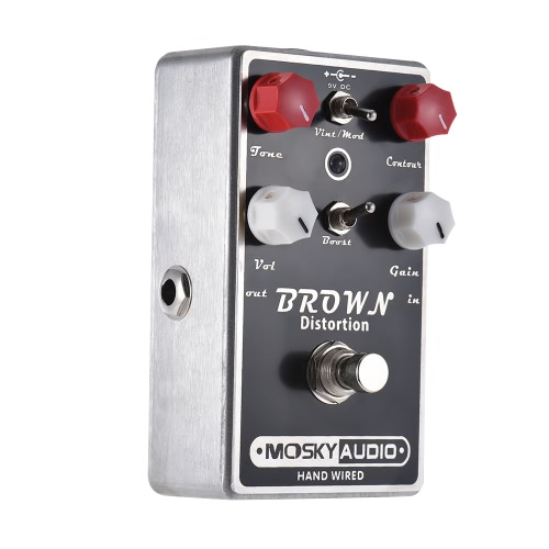 MOSKY BROWN High-quality Distortion Guitar Effect Pedal Full Metal Shell True Bypass