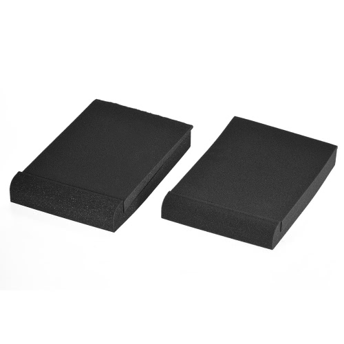 "2 Pack Studio Monitor Speaker Isolation Acoustic Foam Pads Max. 9.6"" * 7.7"" Usable Area I2991"
