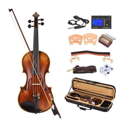 ammoon Pro Master Maestro Antonio Stradivari 1716 Stil handgefertigte antike 4/4 Volle Fettersatz