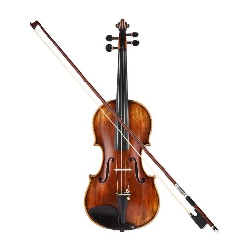 Ammucchiato Pro Master Maestro Antonio Stradivari Handmade Antico 4/4 kit di violino violino completo