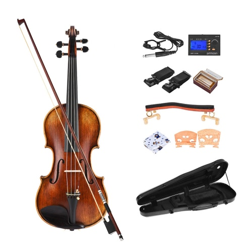 ammoon Pro Master Maestro Antonio Stradivari Handmade Antyczny 4/4 Pełny Skrzypce Skrzypce Kit