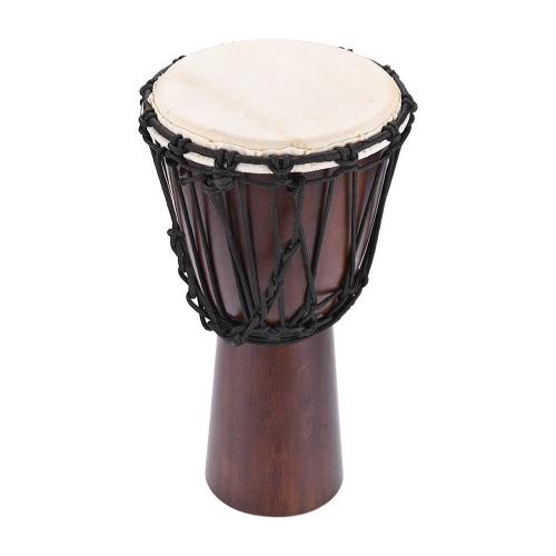 """Professional 8 """"Africano Djembe Hand Bongo Tamburo Percussione Strumento musicale Seleziona la testa di capra di cuoio duro"""