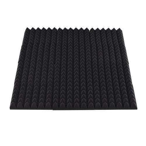 12 Pack Studio Espumas acústicas Paneles de esponja Azulejos Absorción Aislamiento acústico Espuma Rombos retardante de llama Alta densidad 30 * 30cm / 12 * 12in