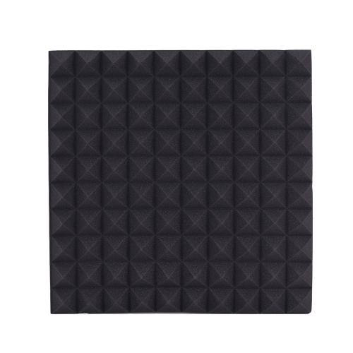6 Paczki Akustyczne Pianki Gąbkowe Płytki Absorpcja Izolacja Izolacja Płyta Rhombus Płomień Ognioodporność 50 * 50cm / 20 * 20in