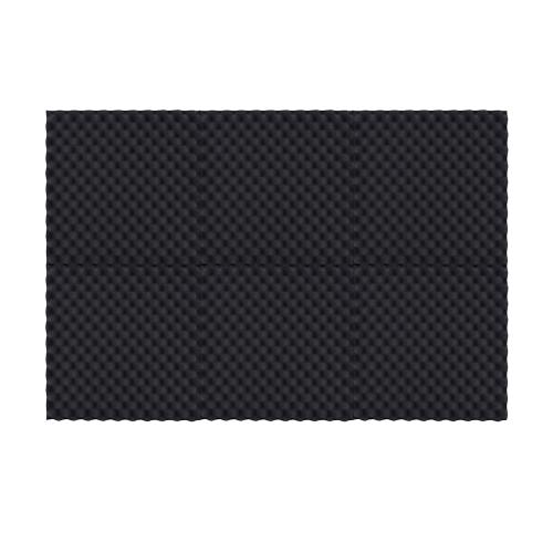 6パックスタジオアコースティックフォームスポンジパネルタイル吸音防音卵形泡難燃性高密度ブラック50 * 50cm / 20 * 20in